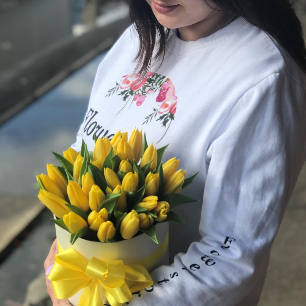 Коробки с цветами. Тюльпаны